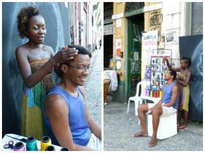 Trançadeira no Mercado Di Preta - Rio de Janeiro - Novembro 2014 - Cor e Estilo